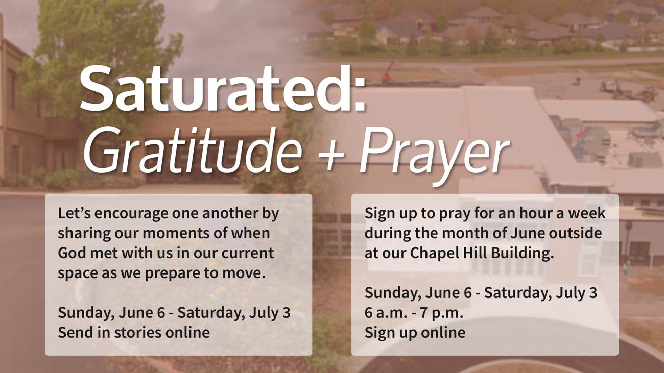 Saturated Gratitude and Prayer in June