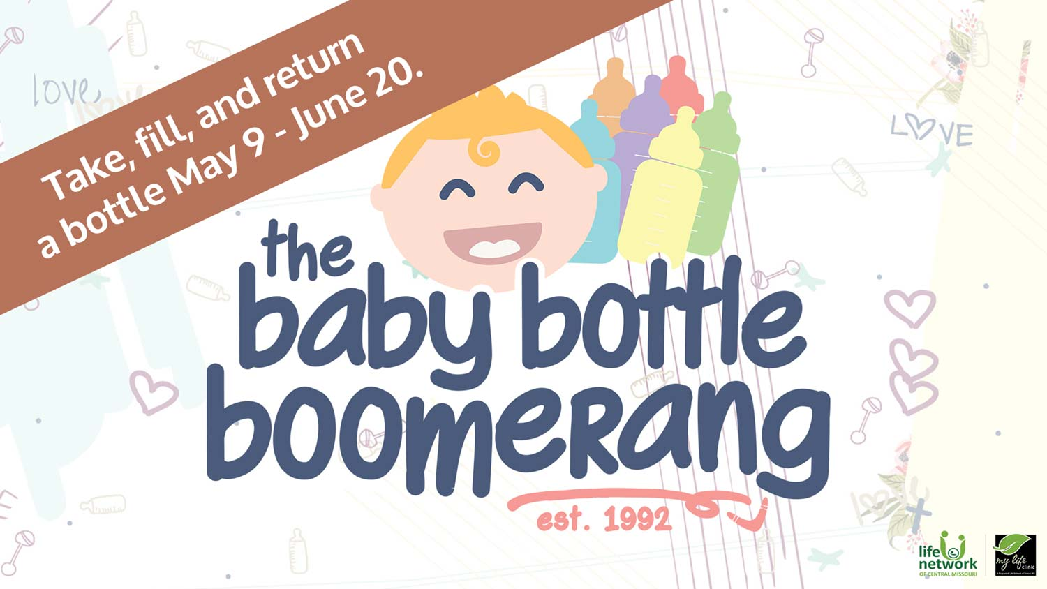 Baby Bottle Boomerang My Life Clinic Fundraiser